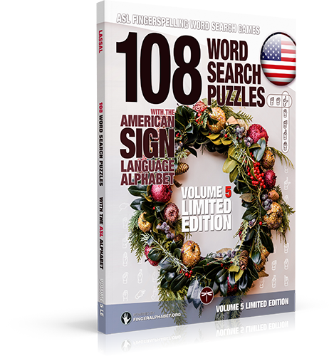 108 Word Search Puzzles with The American Sign Language Alphabet: Vol 5 Limited Edition