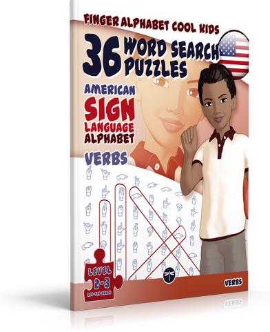 36 Word Search Puzzles with the ASL Alphabet: VERBS