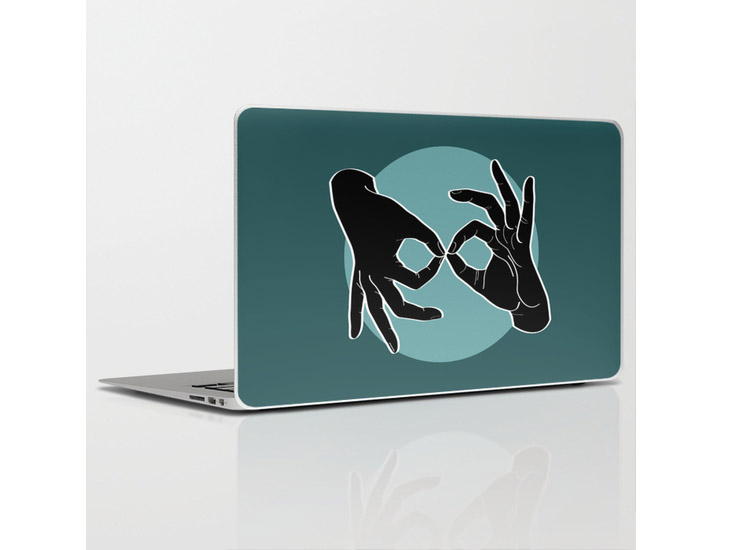 Society6 – Laptop Skins – Black on Turquoise 07