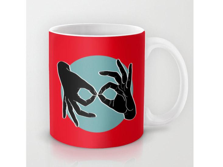 Society6 – Mug – Black on Turquoise 01