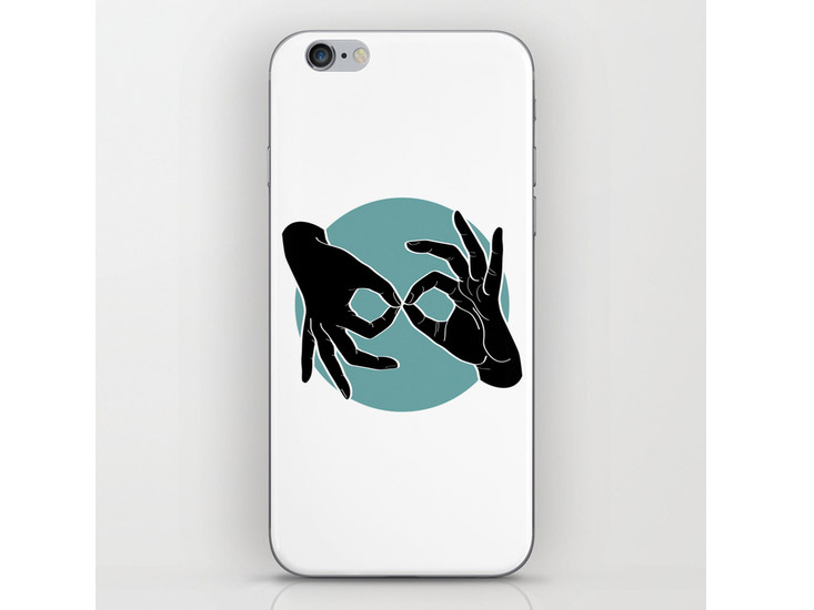 Society6 – Phone Skins – Black on Turquoise 00