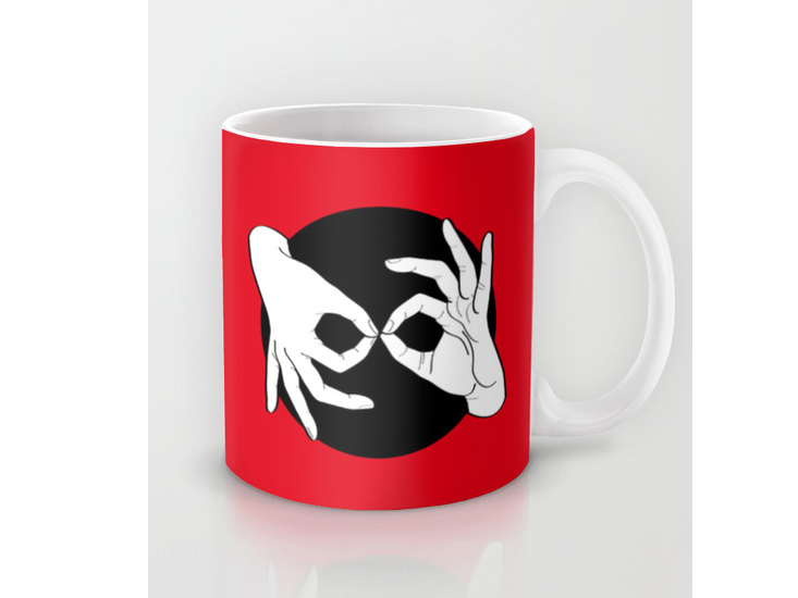Society6 – Mug – White on Black 01