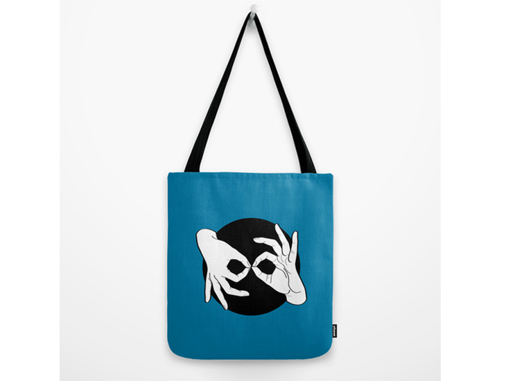 Society6 – Tote Bag – White on Black 10