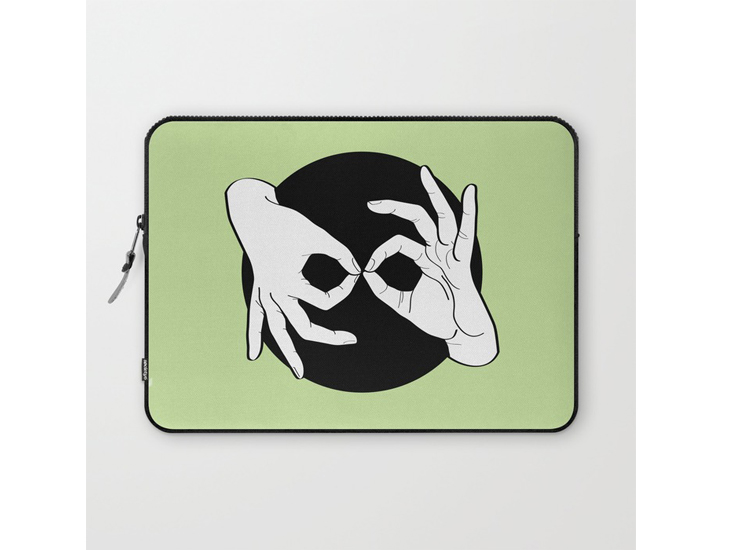 Society6 – Laptop Sleeves – White on Black 15