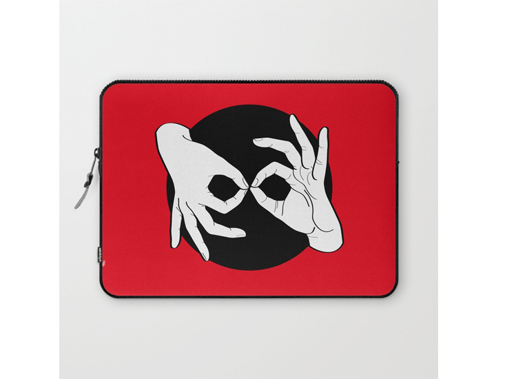 Society6 – Laptop Sleeves – White on Black 01
