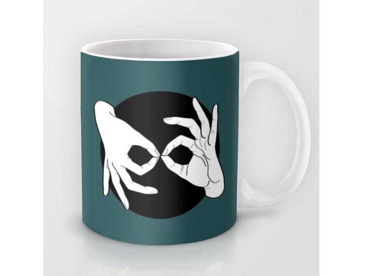 Society6 – Mug – White on Black 07