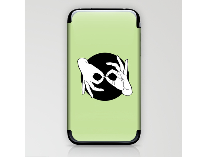 Society6 – Phone Skins – White on Black 15