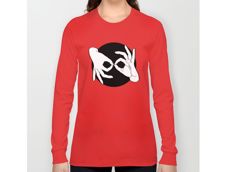 Society6 – Long Sleeve T-shirt – White on Black 15