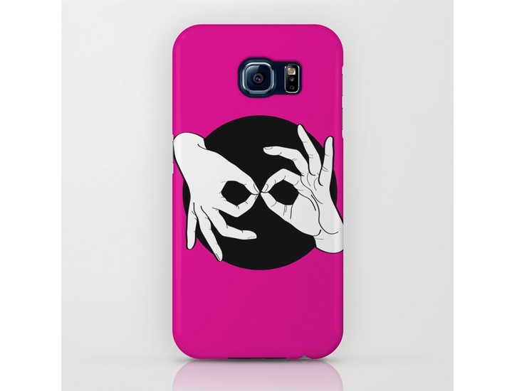 Society6 – Phone Cases / Galaxy – White on Black 05