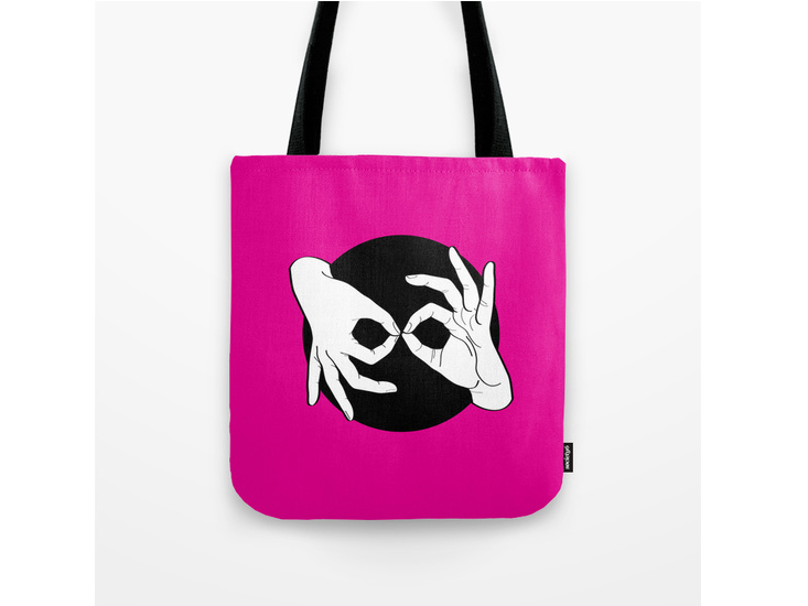 Society6 – Tote Bag – White on Black 05