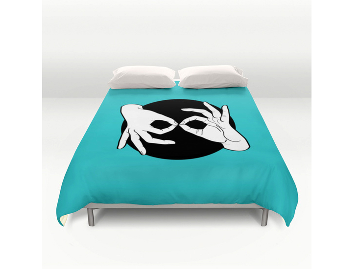 Society6 – Duvet Cover – White on Black 11