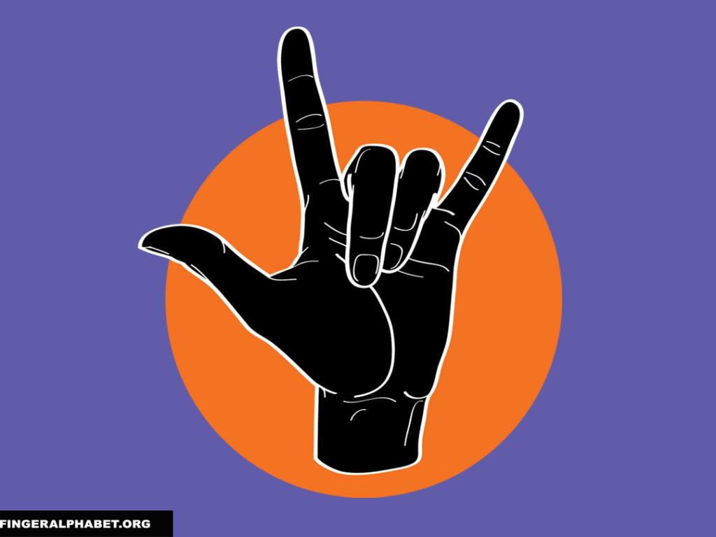 ILY Black on Orange