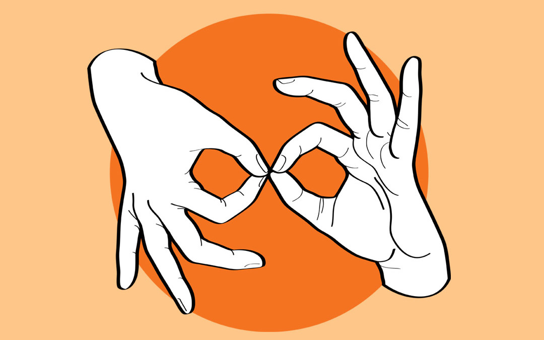 ASL Interpreter – White on Orange