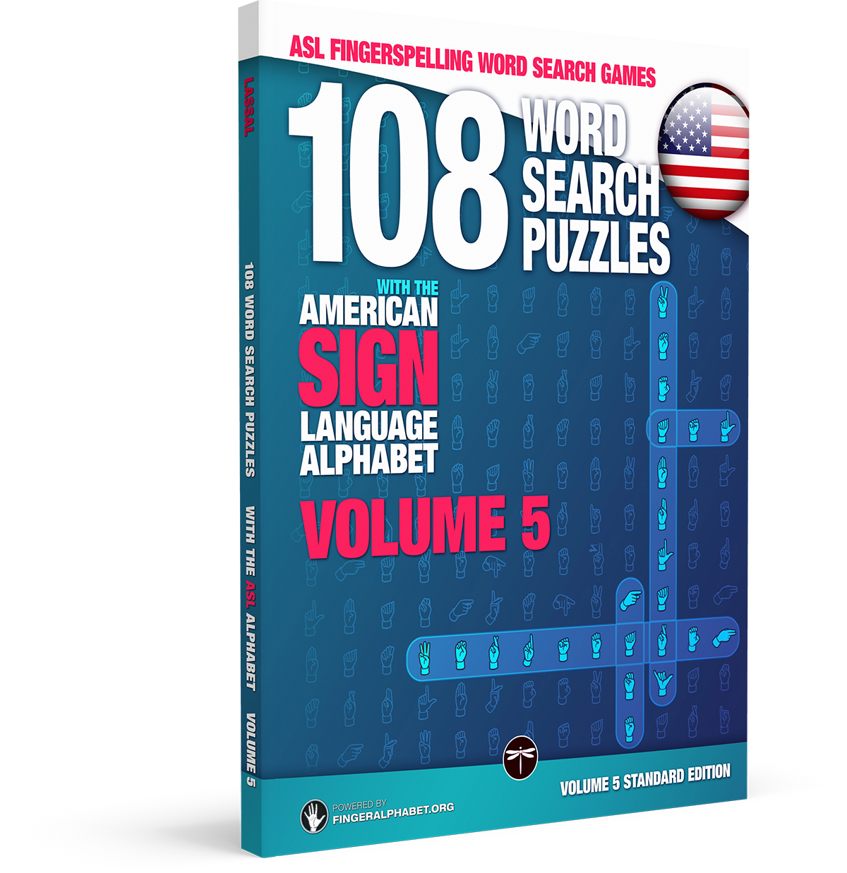 108 Word Search Puzzles with The American Sign Language Alphabet: Vol 5 Standard Edition